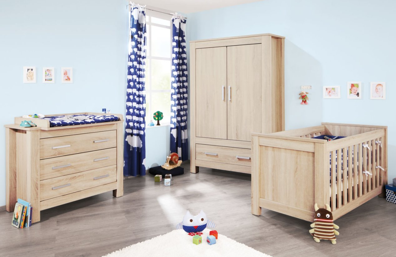 preiswerte babyzimmerm bel rustikal eiche holz. Black Bedroom Furniture Sets. Home Design Ideas